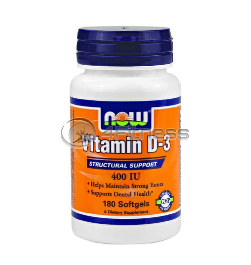 Vitamin D-3 / 400 IU / – 180 Softgels