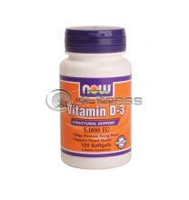 Vitamin D-3 / 5000 IU / - 120 Softgels