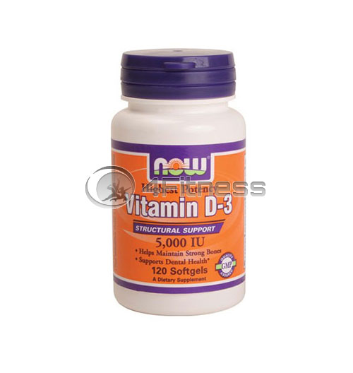 Vitamin D-3 / 5000 IU / – 120 Softgels