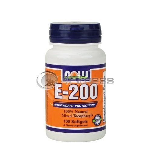 Vitamin E-200 IU /Mixed Tocopherols/ – 100 Softgels