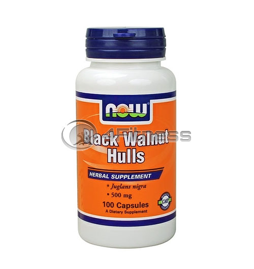 Black Walnut Hulls – 500 mg. / 100 Caps.