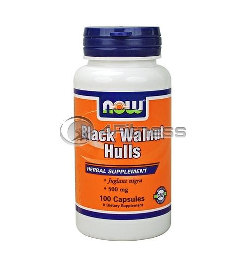 Black Walnut Hulls – 500 mg. / 100 Caps.