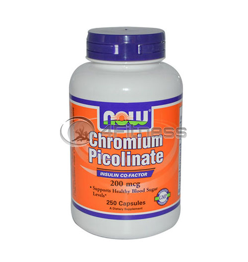 Chromium Picolinate – 200mcg. / 250 Caps.