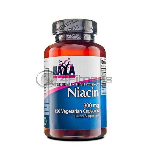 High Potency Niacin / Flush Free – 300mg. / 120 Vcaps.