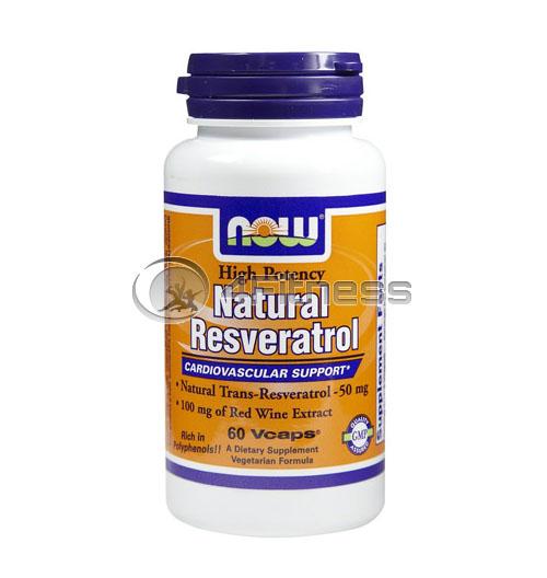 Natural Resveratrol /Mega Potency/ – 200mg. / 60 VCaps.