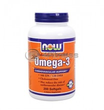 Omega 3 Fish Oil - 1000 mg. / 200 Softgels