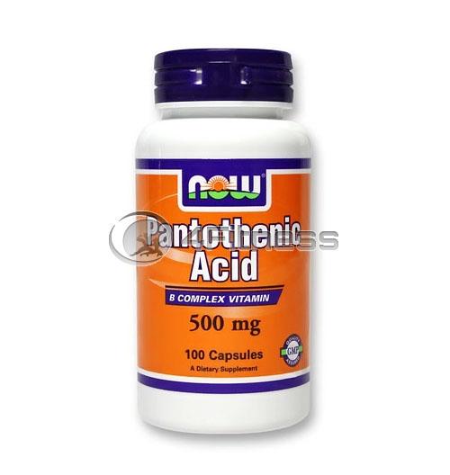 Pantothenic Acid – 500 mg. / 100 Caps.