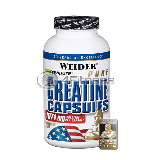 Pure Creatine – 200 Caps.
