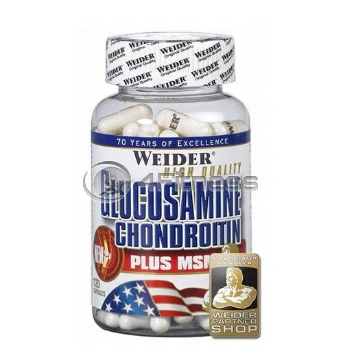 Glucosamine & Chondroitin + MSM – 120 Caps.