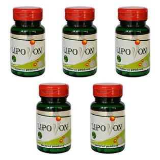 100% Oригинален Lipovon (Липовон) – 30 caps. x 5 Combo