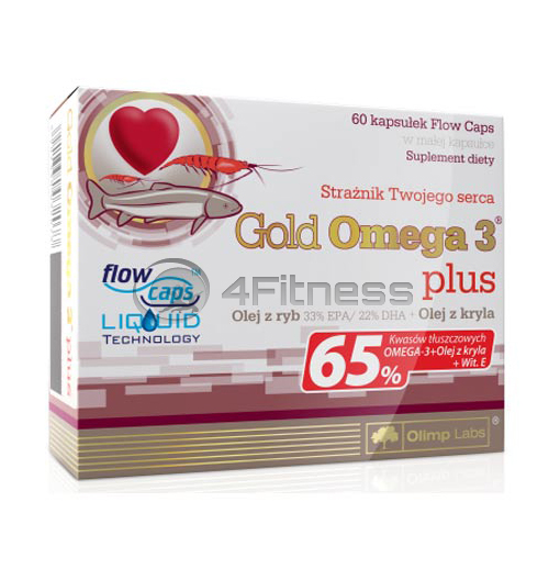 OLIMP Omega 3 Gold – 65 % epa & dha 60 softgels