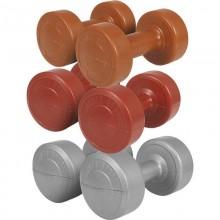 Пластмасови дъмбели с циментов пълнеж - комплект