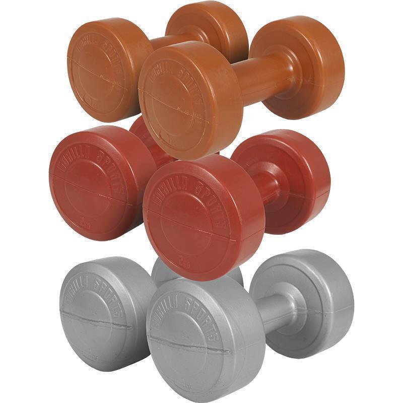 Пластмасови дъмбели с циментов пълнеж – комплект