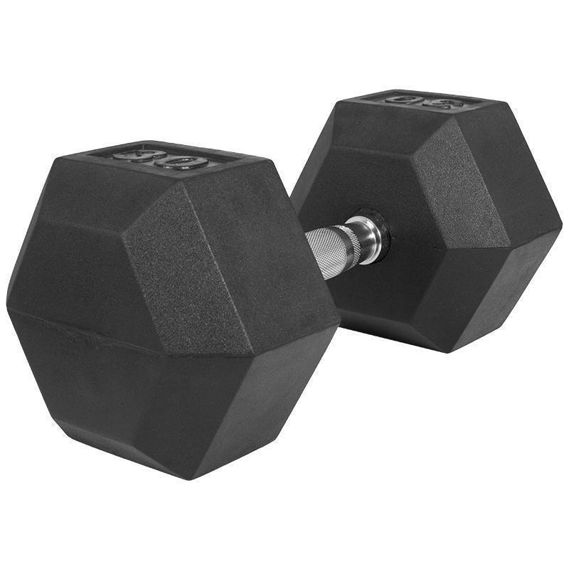 Професионален хексагонален дъмбел 30 кг. – гумиран