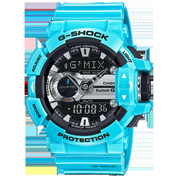 Мъжки часовник Casio G-Shock Bluetooth Music Control G'MIX GBA-400-2C
