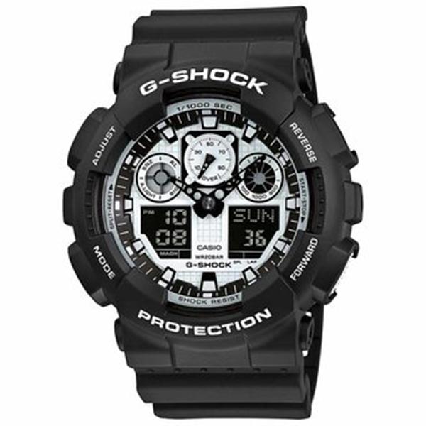 Мъжки часовник Casio G-Shock Black and White Series GA-100BW-1AER