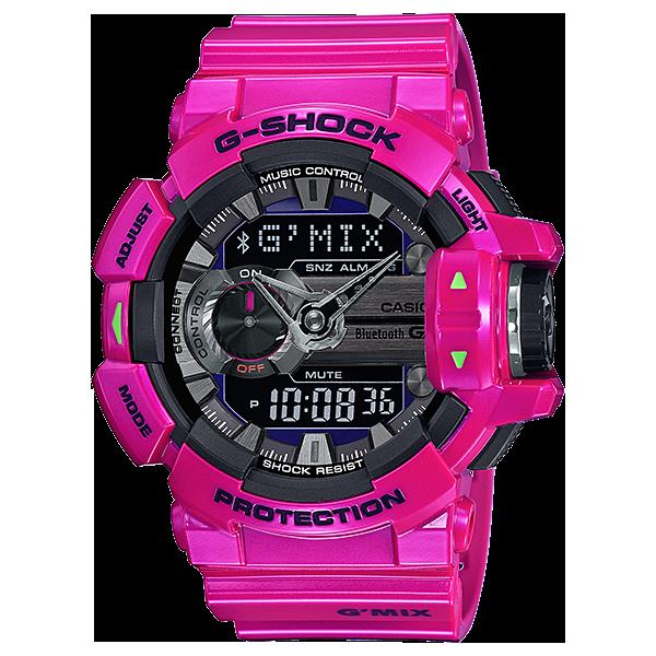 Мъжки часовник Casio G-Shock Bluetooth Music Control G'MIX GBA-400-4C