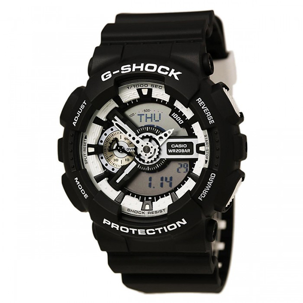 Мъжки часовник Casio G-Shock Black and White Series GA-110BW-1AER