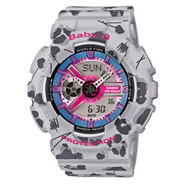 Дамски часовник Casio Baby-G Flower Leopard BA-110FL-8AER