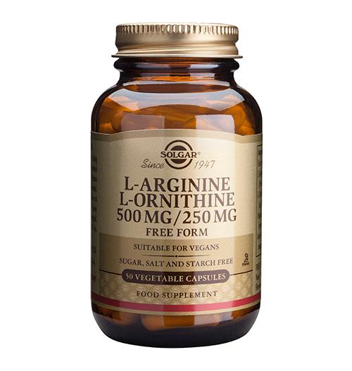 L-Arginine 500 мг. / L-Ornithine 250 мг. / 50 Капс.