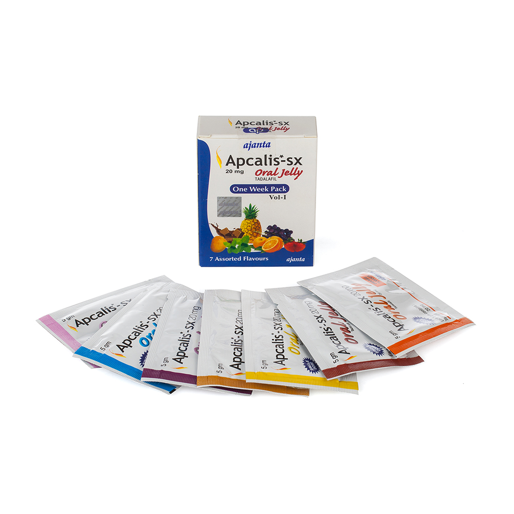 Apcalis-SX Oral Jelly /  Апкалис Тадалафил Гел – 7 пакета