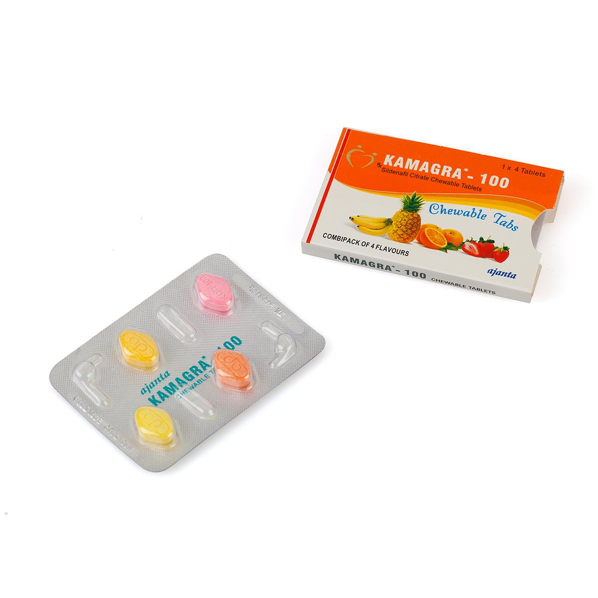Kamagra Chewable & Soft / Дъвчащи меки таблетки Камагра – 4 табл. х 100 мг.