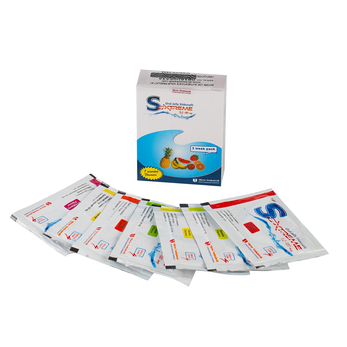 Sextreme Oral Jelly XL / Желета за мощна ерекция (Sildenafil Citrate – 120 mg.) – 7 пакета