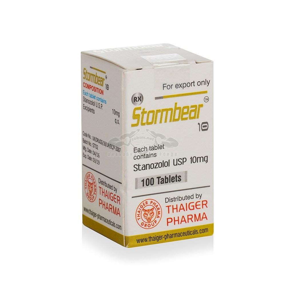 Stormbear 10 (Stanozolol) – 100 табл. х 10 мг.