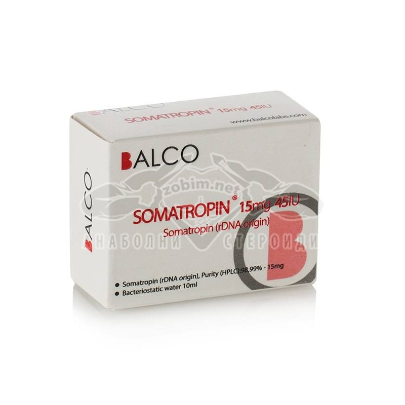 Somatropin 15 mg. + Бактериостатична вода 10 мл. – 45 IU