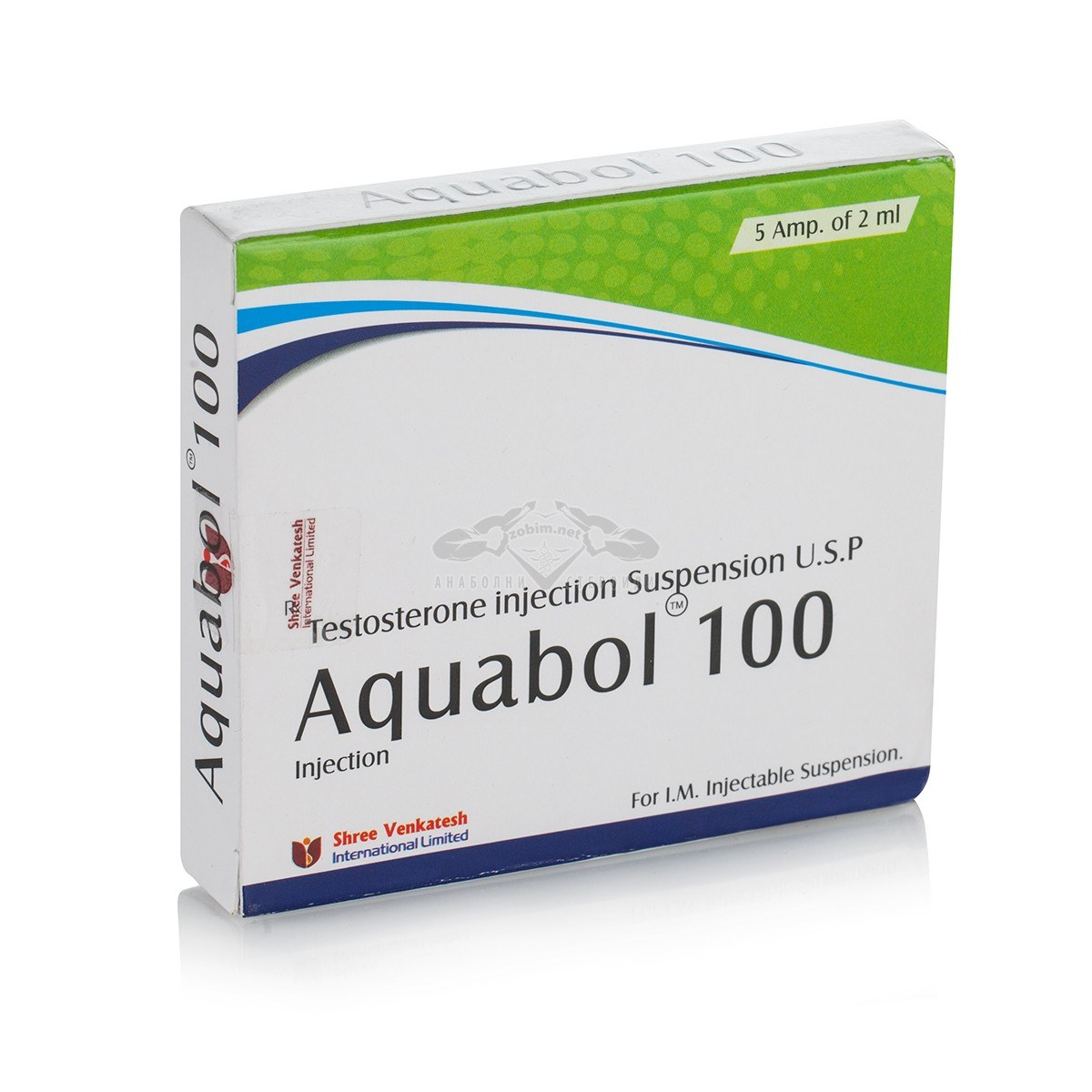 Aquabol 100 (Testosterone Suspension) – 5 амп. х 100 мг.