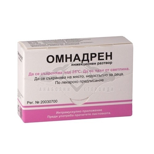 Omnadren (Testosterone Mix) – 5 амп. х 250 мг.