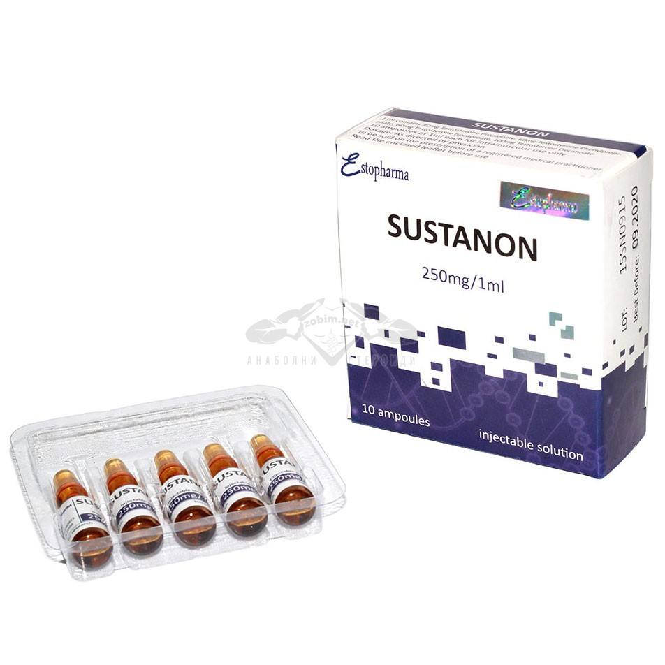 Sustanon (4 вида тестостерон) 250 мг/1 мл – 10 амп.