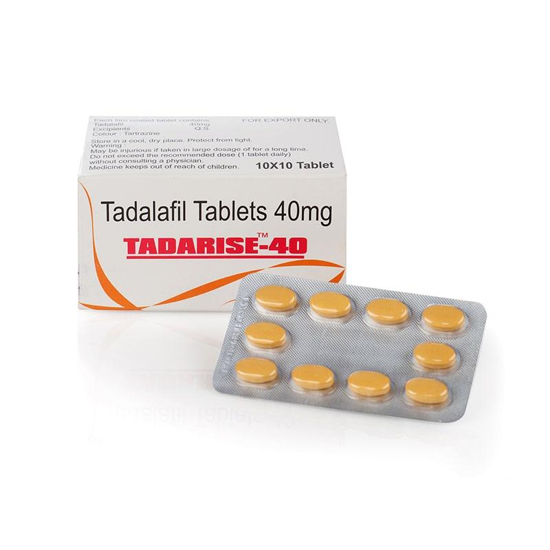 Tadarise 40 (Tadalafil) – индийски аптечен циалис – 10 табл. х 40 мг.