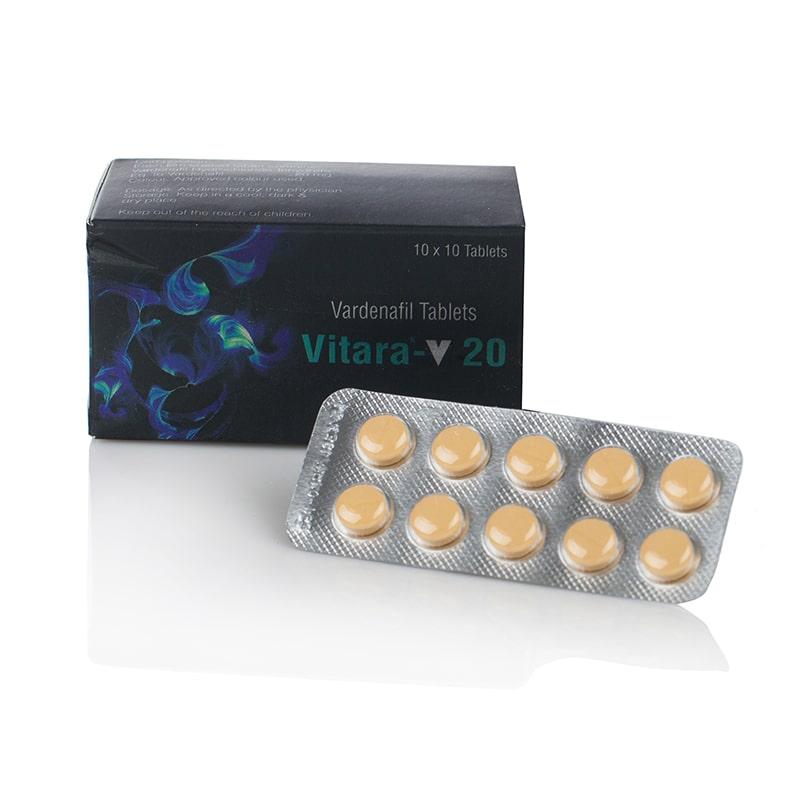 Vitara 20 (Vardenafil) – Левитра – 10 табл. x 20 мг.