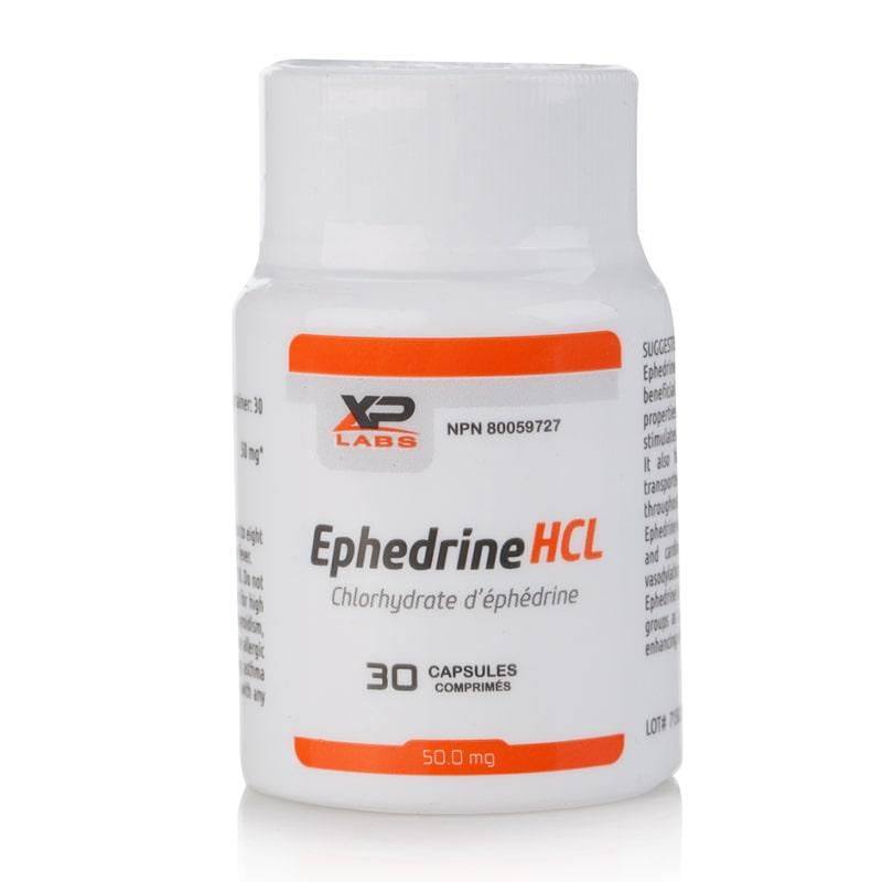 Ephedrine HCL (100% чист ефедрин) – 30 капс. х 50 мг.