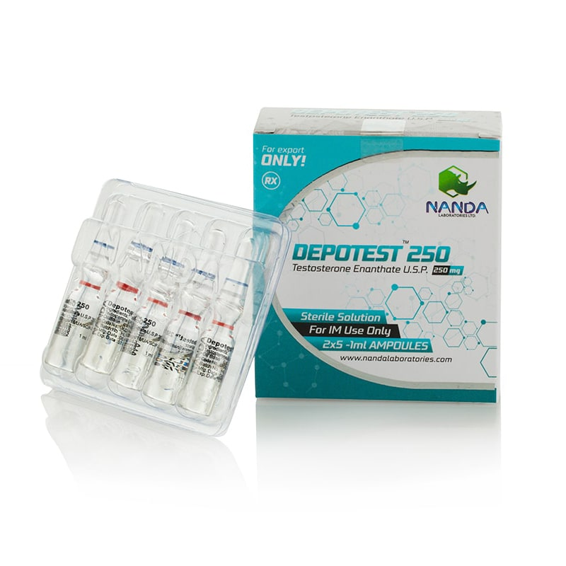 Depotest 250 (Testosterone Enanthate) – 10 amp. x 250 mg.