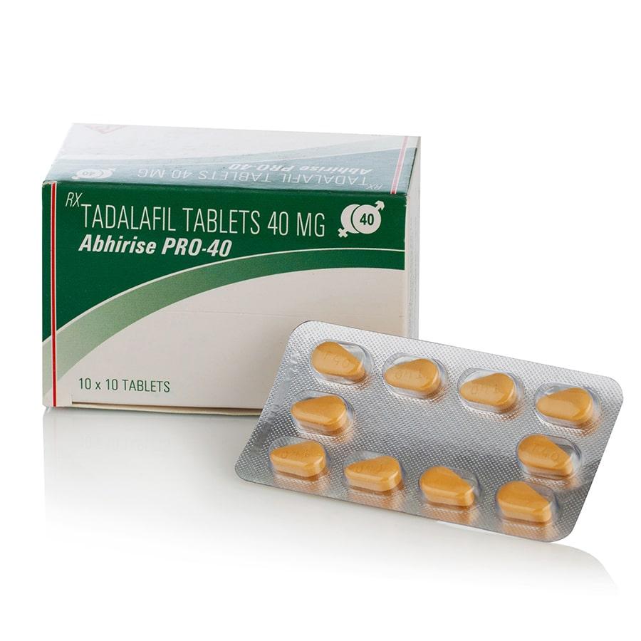 Abhirise PRO 40 (тадалафил) – 10 табл. х 40 мг.