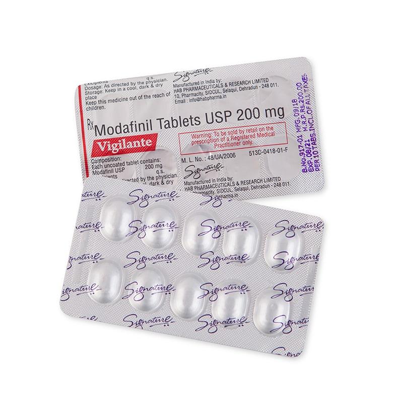 Vigilante® (Модафинил) – 10 табл. х 200 мг.