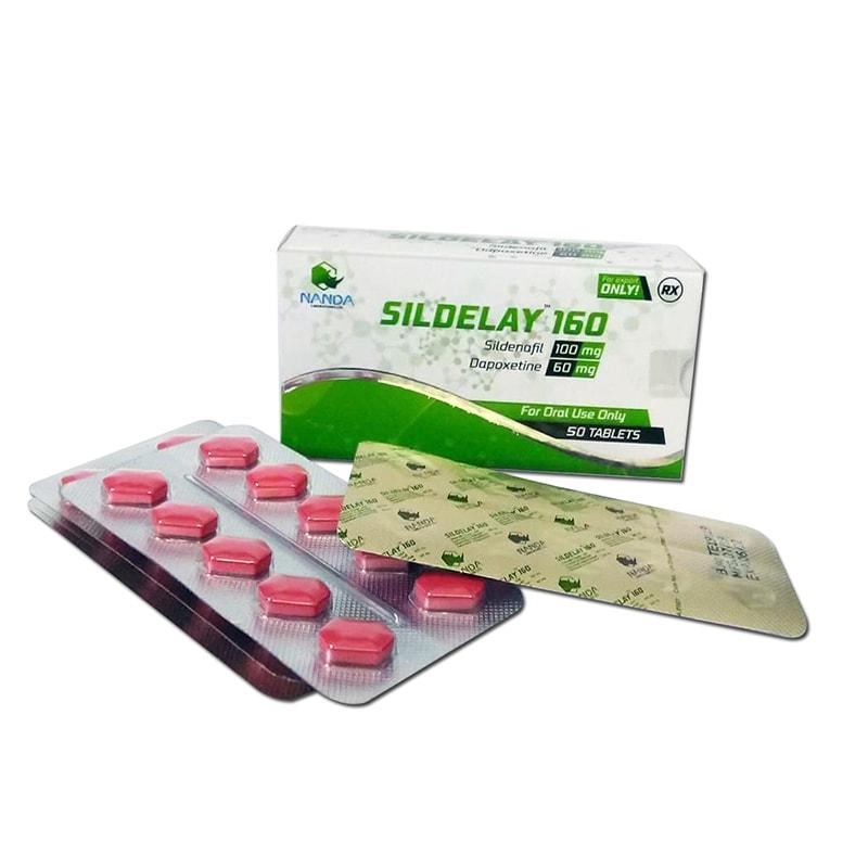 Sildelay 160 (Силденафил + Дапоксетин) – 10 табл. х 160 мг.
