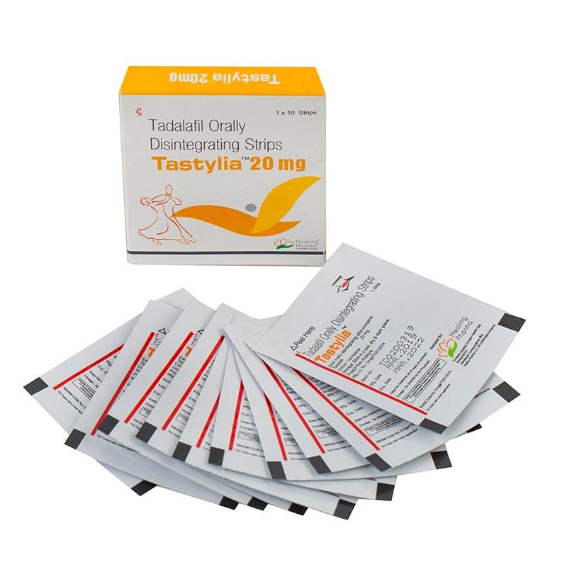 Tastylia -20 (ленти тадалафил за под езика) – 10 ленти х 20 мг.