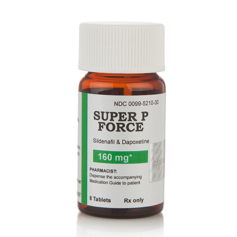 Super P-Force NEW (Sildenafil Citrate 100 мг. + Dapoxetine 60 мг.) – 8 табл.