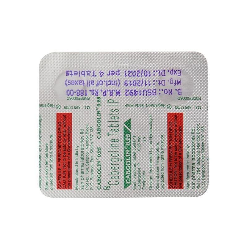 Cabgolin (Cabergoline) – 4 табл. х 25 мг.