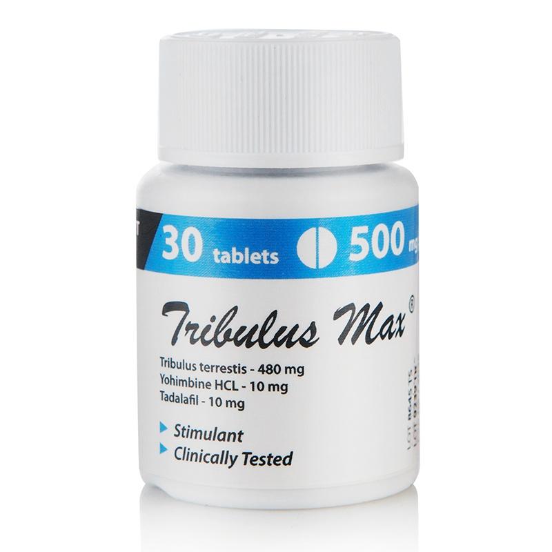 Tribulus MAX (Tribulus + Yohimbine + Tadalafil) – 30 табл. х 500 мг.
