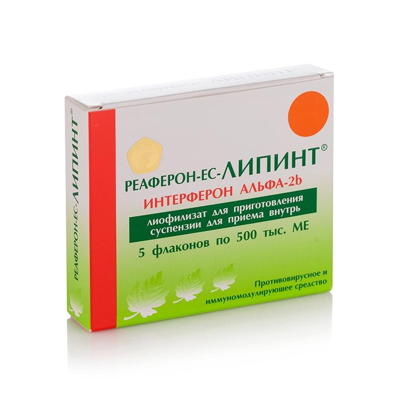 Reaferon-EC Lipint® (Interferon Alfa-2b) 500 000 IU – 5 амп. за орален прием