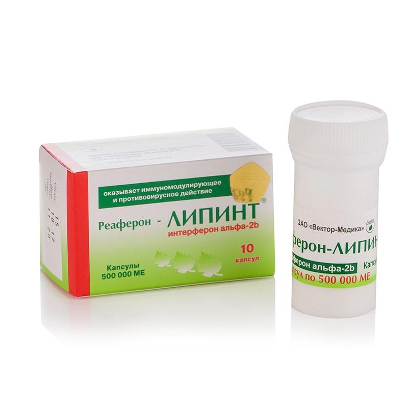 Reaferon-EC Lipint® (Interferon Alfa-2b) 500 000 IU – 10 капсули